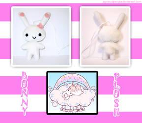 White bunny plush by AgnisVulpecula