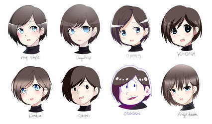 Style Challenge - 8 Different Anime Styles!