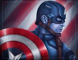 Captain America: Civil War - Captain America by DaveGozu
