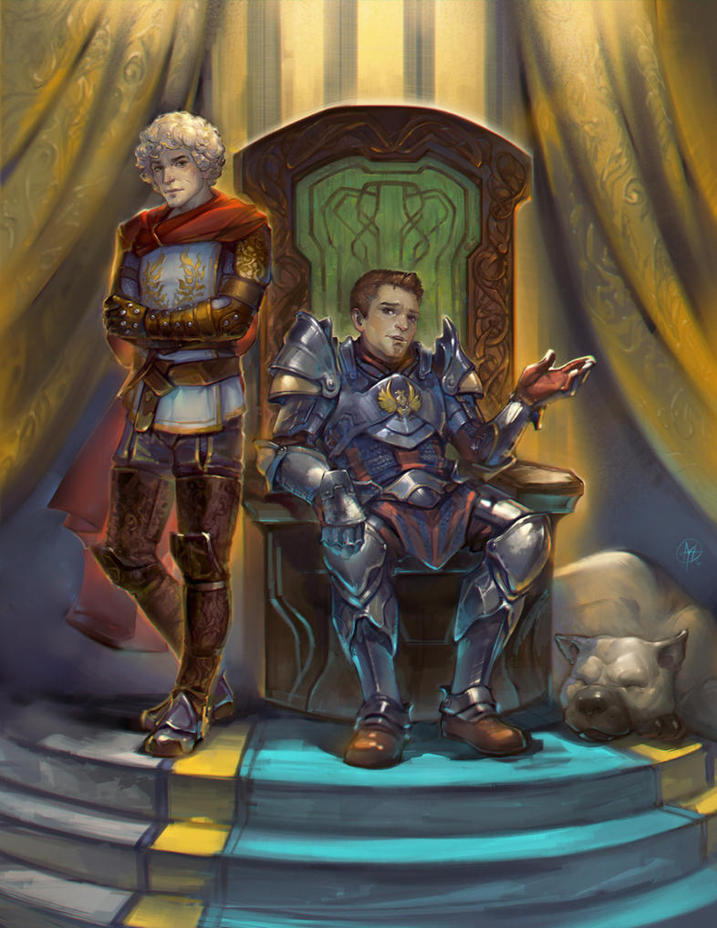 Warden and Alistair by Alteya