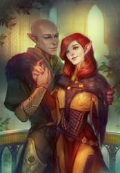 Commission: Scarlet/Solas by Alteya