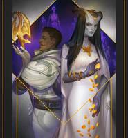 Commission: Atashi and Dorian by Alteya