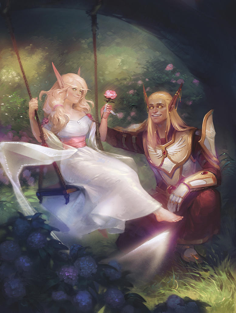Commission: Leorii and Veloestian by Alteya