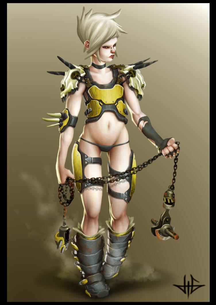 Warrior girl By Brosa by MythArt-fr