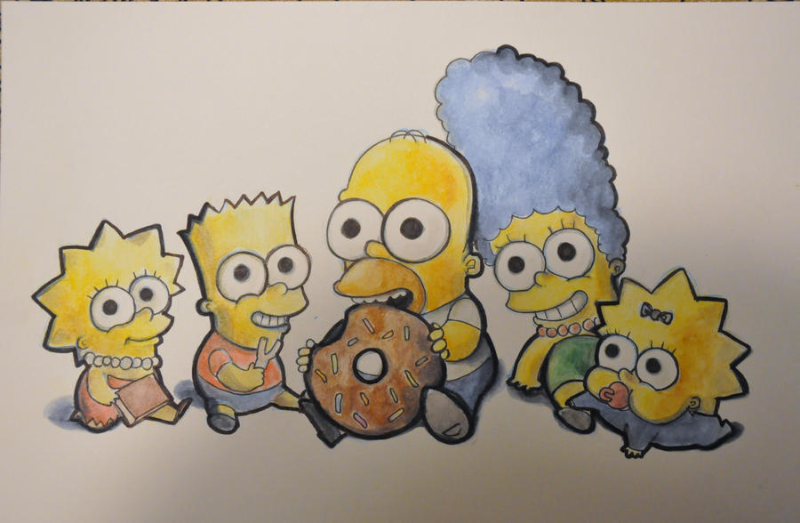 The Simpsons Chibi Version by the-BlueFairy