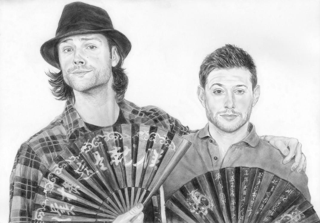 Jensen Ackles_Jared Padalecki by in3ganka