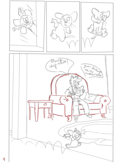 Comic sketch by RetroCharo