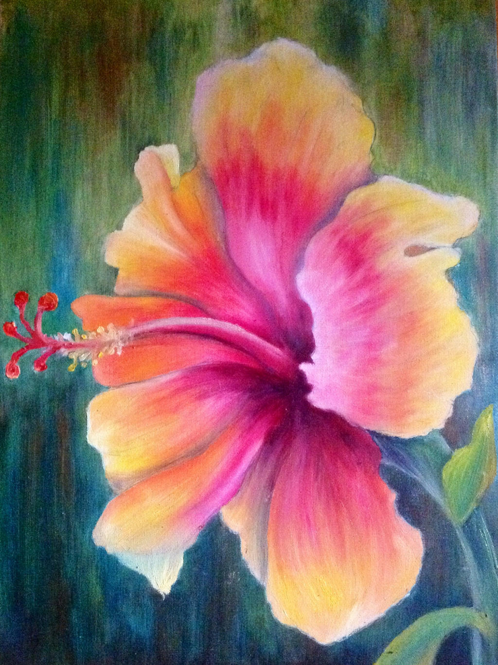 Tropical Flower Paintings | www.imgkid.com - The Image Kid ...