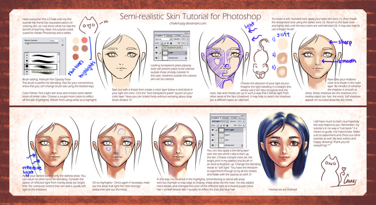 Semi-Realistic Skin Tutorial by ChiakiNeko
