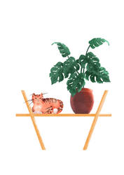 Cat Illustration 001