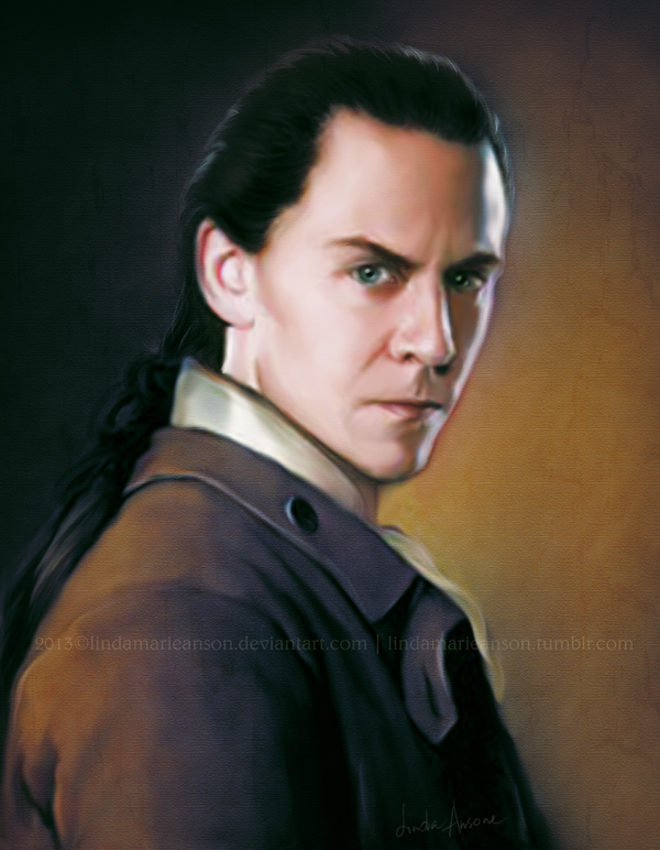 WIP portrait of loki by LindaMarieAnson