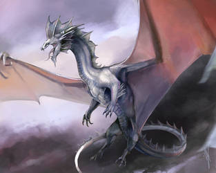 Silver Dragon - Kadir Ghashm by Laurelhach23