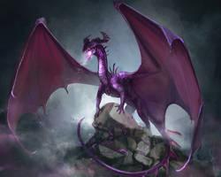 Purple Dragon by Laurelhach23