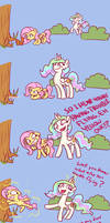 Celestia Helps Fluttershy Overcome Her Troubles