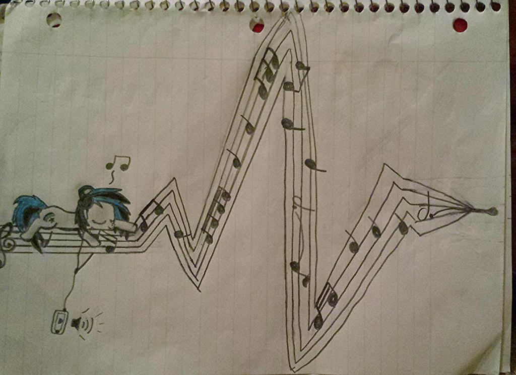 Heartbeat Line Art : Musical heartbeat by wolfy on deviantart