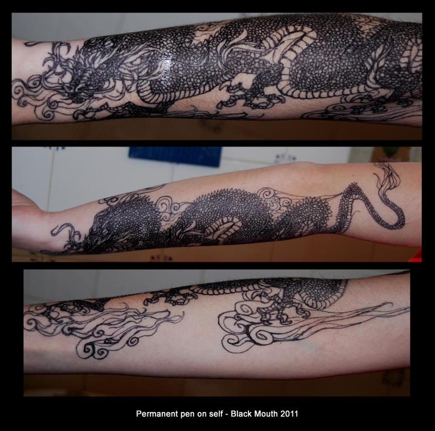 Sharpie tattoo by black mouth on deviantart for Sharpie tattoo designs
