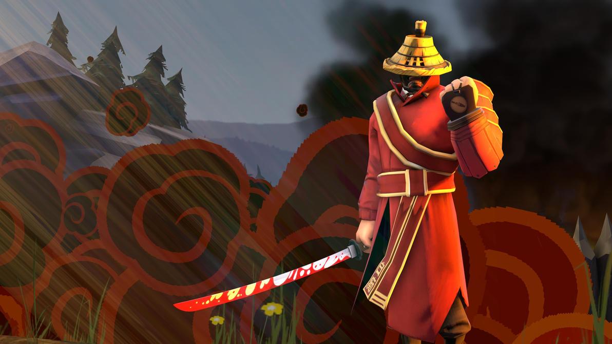 [SFM] Samurai Champloo Wallpaper but with my Soldier ...  |Tf2 Samurai Hat