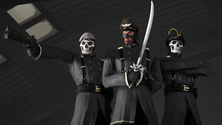 [SFM] Black Masks Triumvirate by RayDraca