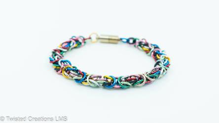 Rainbow Byzantine Bracelet by TwistedCreationsLMS