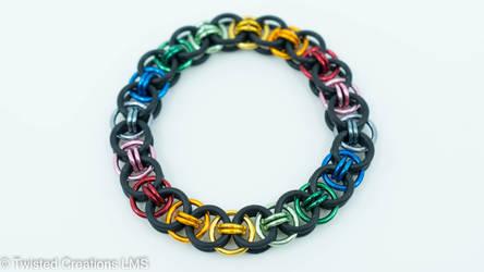 Stretchy Rainbow Bracelet by TwistedCreationsLMS