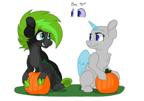 MS Paint Picking Pumpkins Collab