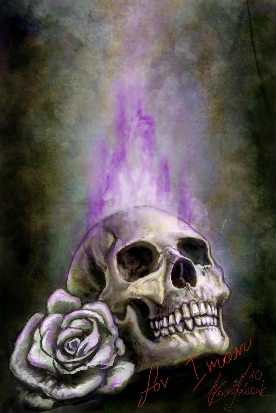 Purple flames skull by Sarmati on DeviantArt