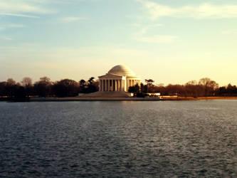 Jefferson Memorial Across the Water by W00den-Sp00n