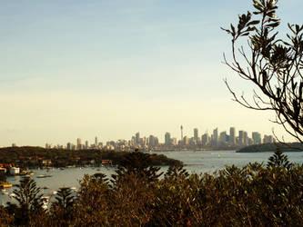 Sydney Skyline Sunrise by W00den-Sp00n