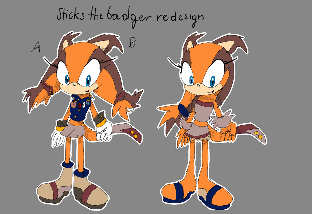 sticks the badger redesign by quiickyfoxy on deviantart