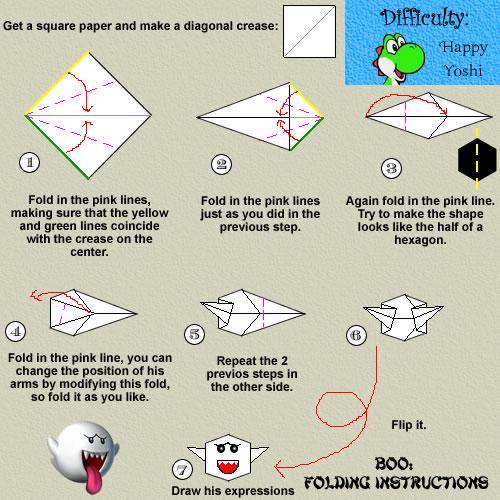 Boo Folding Instructions By Teeheexd On Deviantart