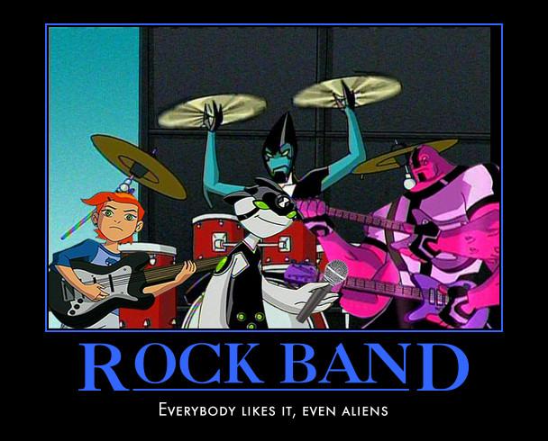 Alien Rock Band by TeeheeXD