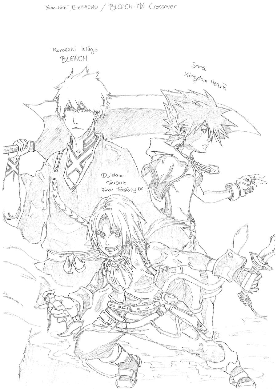 Kingdom Hearts-Naruto Colors by arvalis on deviantART