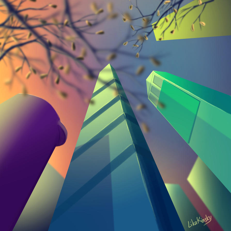 Buildings (Sunset in the City) by LikaKinsky