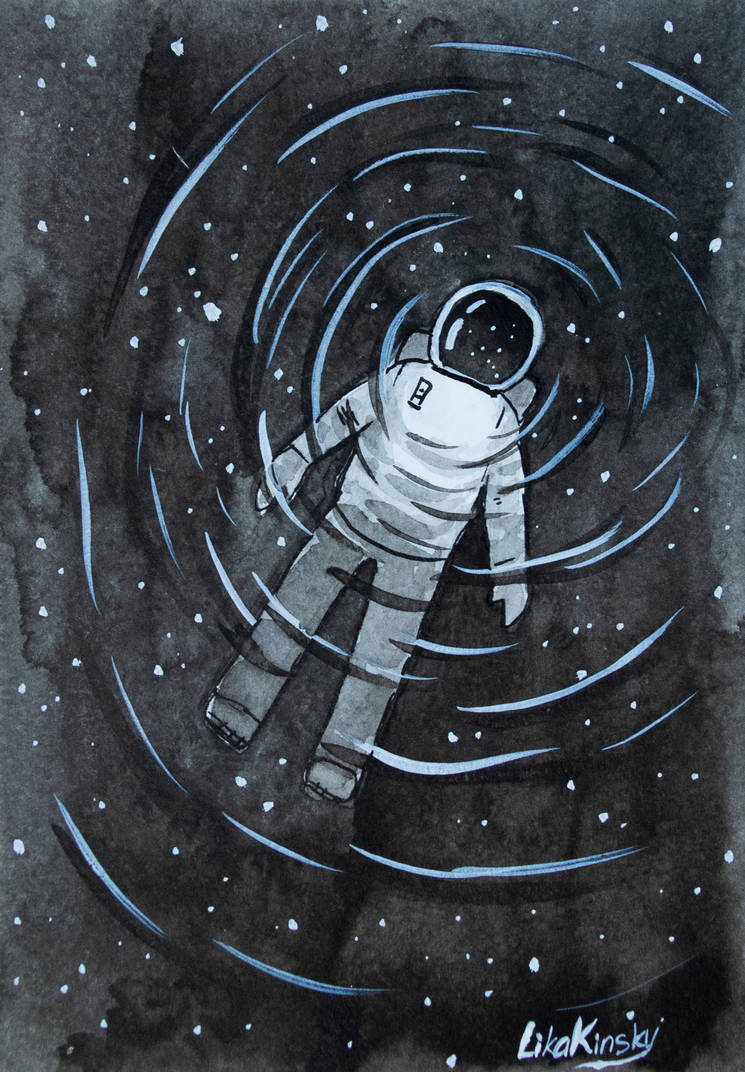 Inktober - Astronaut - Day 10 (+video) by LikaKinsky