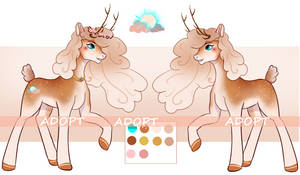 OPEN AUCTION adopt pony deer by Opelsintic