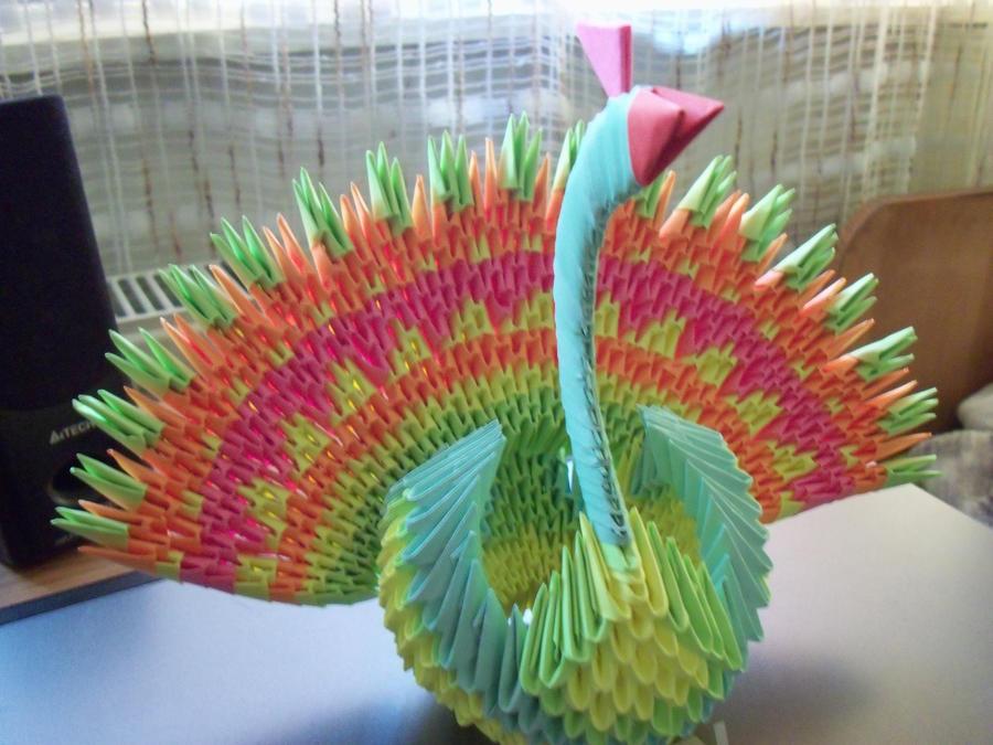 3D Origami Peacock 04 By MinakoAzumi