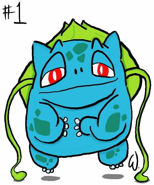 #001 Bulbasaur   by twitchSKETCH
