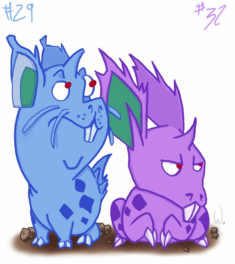 029 032 Nidoran  by twitchSKETCH