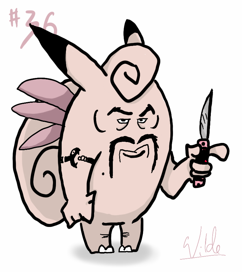 036 Clefable by twitchSKETCH