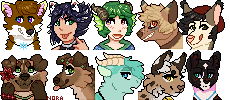 Pixel Commissions batch by Ravynflight