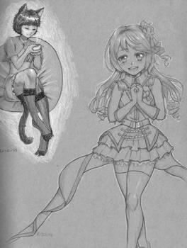 Uzuki Pencil Drawing + Old Sketch