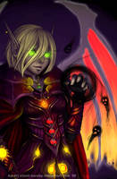 Commission: Blood Elf Warlock by silent-mooby