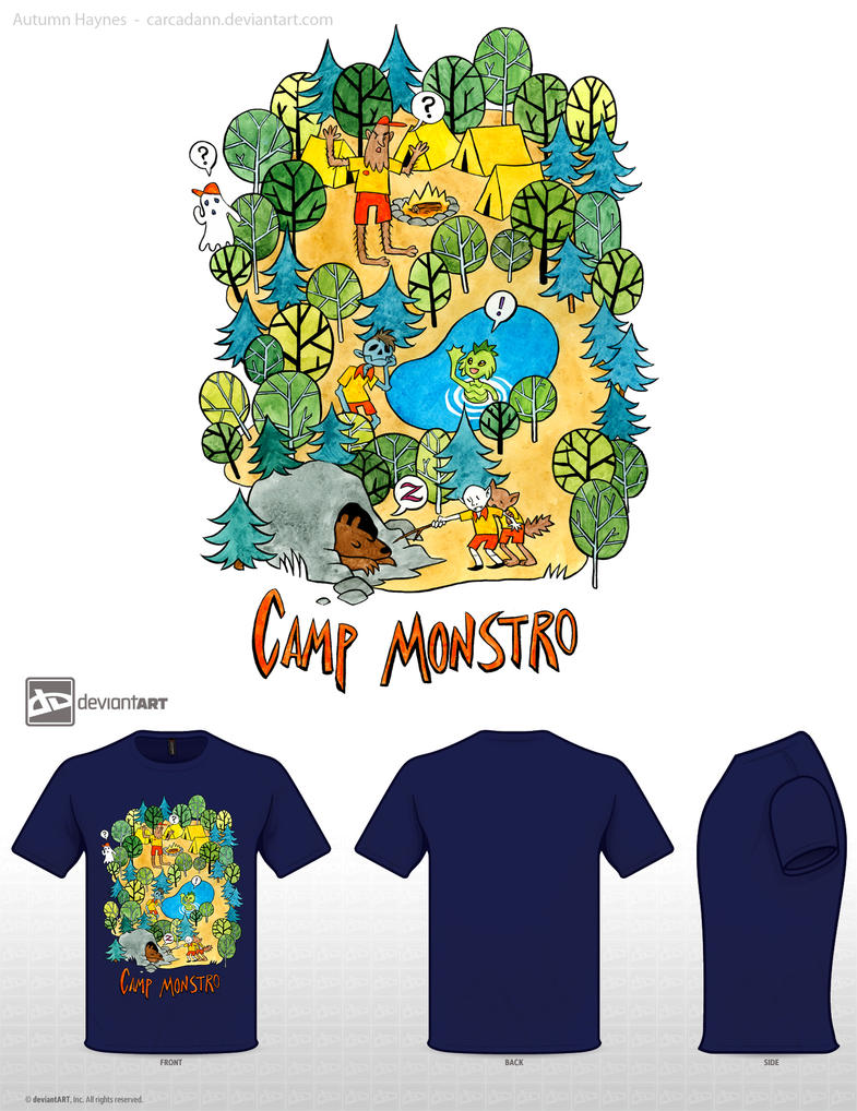 Camp Monstro Shirt by carcadann