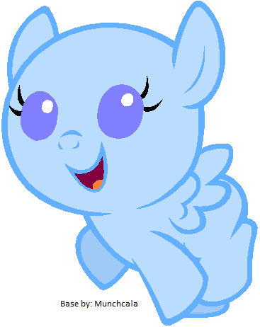 my little pony filly base pegasus