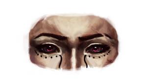 Pink eyes by NicolaHynes