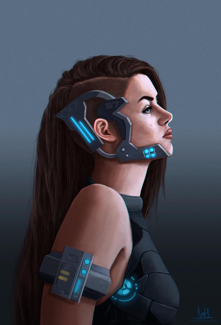 Sci fi girl complete by nicolahynes on deviantart for Buy digital art online