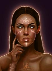Character Design Portrait Repaint by NicolaHynes