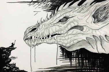 Inktober Day 4: Drooling by NicolaHynes