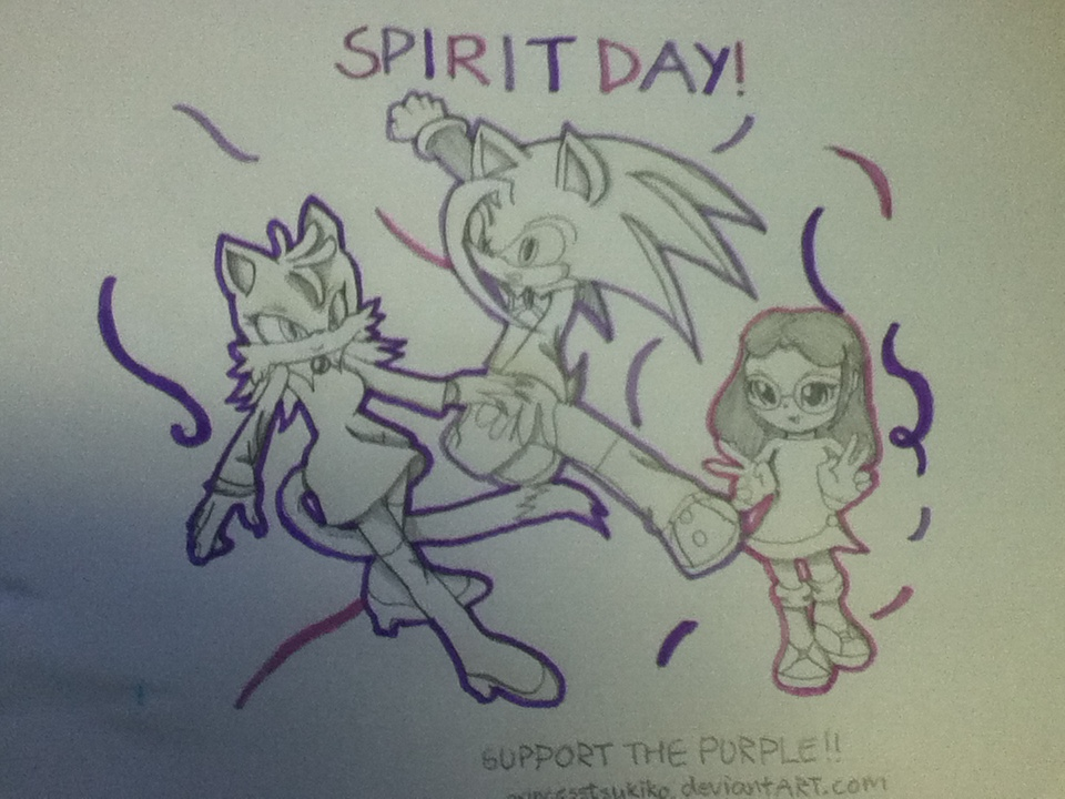Spirit Day! Support the Purple! by Rockgirl-Savvy