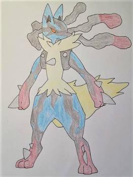 Mega Lucario (Colored)